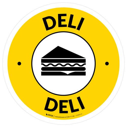 Deli Circle - Floor Sign