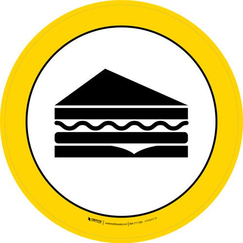 Deli Graphic Circle - Floor Sign