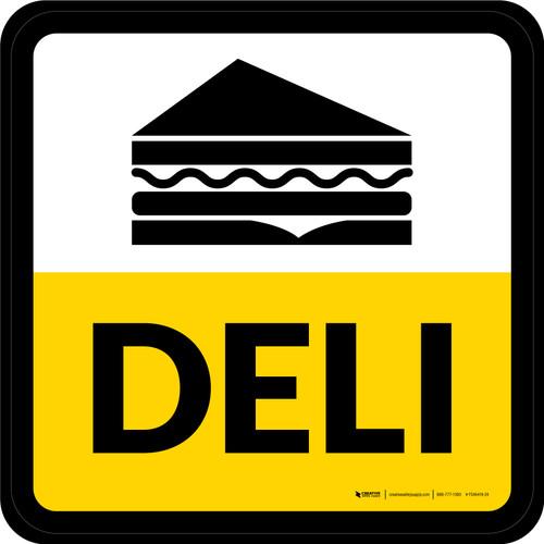Deli Square - Floor Sign