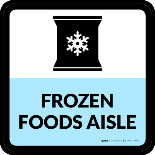 Frozen Foods Aisle Square - Floor Sign