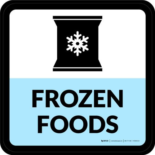 Frozen Foods Square - Floor Sign