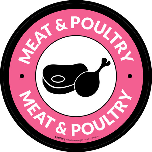 Meat & Poultry Circle - Floor Sign