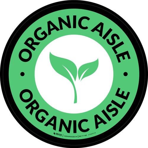 Organic Aisle Circle - Floor Sign