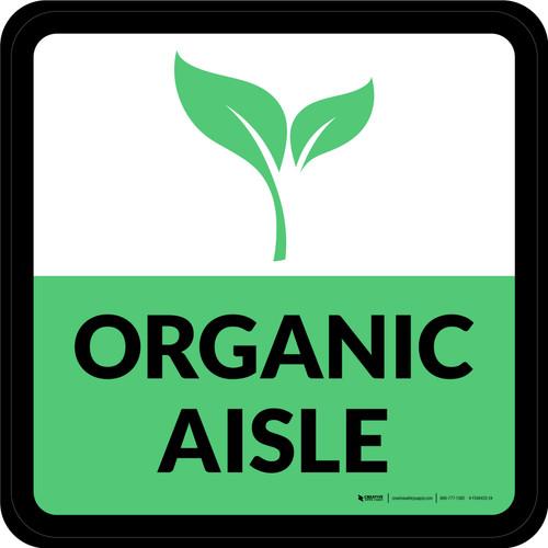Organic Aisle Square - Floor Sign