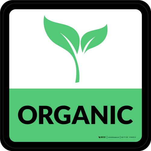 Organic Square - Floor Sign