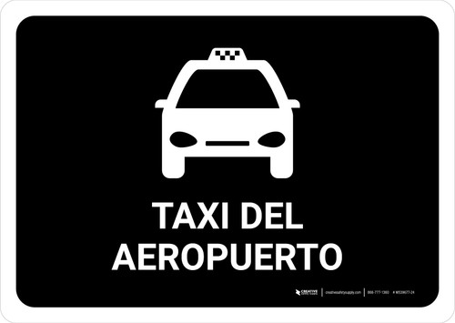 Airport Taxi Black Spanish Landscape - Wall Sign