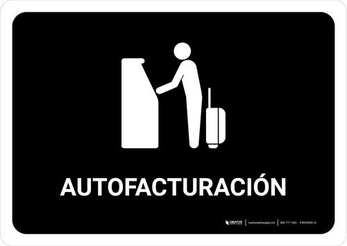 Auto Check In Black Spanish Landscape - Wall Sign