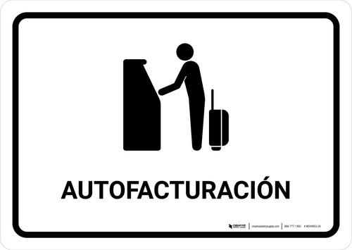 Auto Check In White Spanish Landscape - Wall Sign