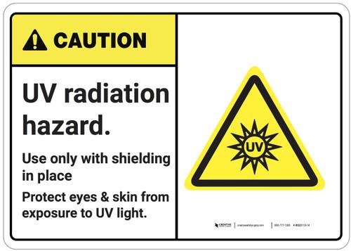 Caution: UV Radiation Hazard ANSI - Wall Sign