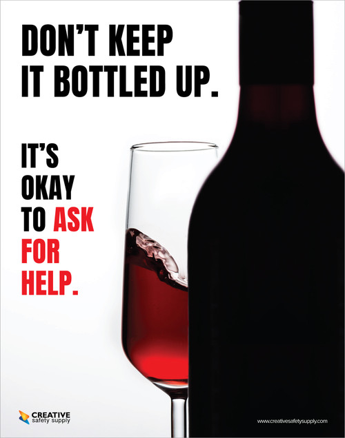 Alcoholism - It's Okay to Ask For Help - Poster