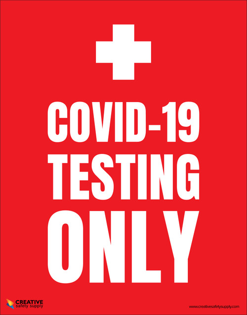 Covid-19 Testing Only (Red) - Poster