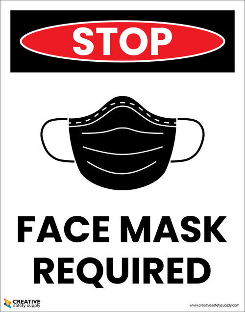 Stop: Face Mask Required with Icon - Poster