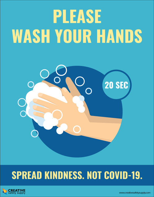 Please Wash Your Hands - Spread Kindness Not Covid-19 - Poster
