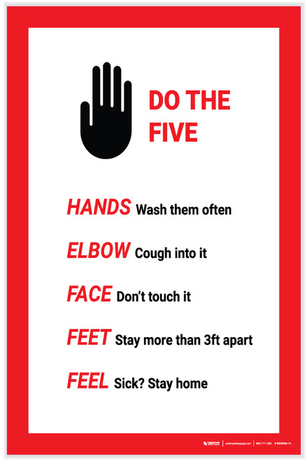 Do The Five Hand Graphic - Label