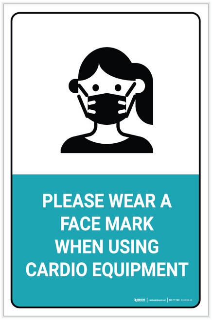Face Mask Required to use Cadio Equipment - Label