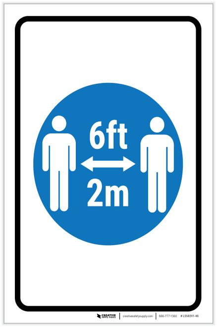 6Ft-2M With Icon Portrait - Label