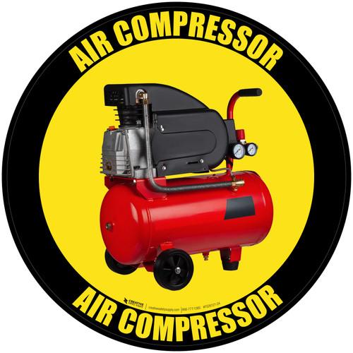 Air Compressor - Floor Sign
