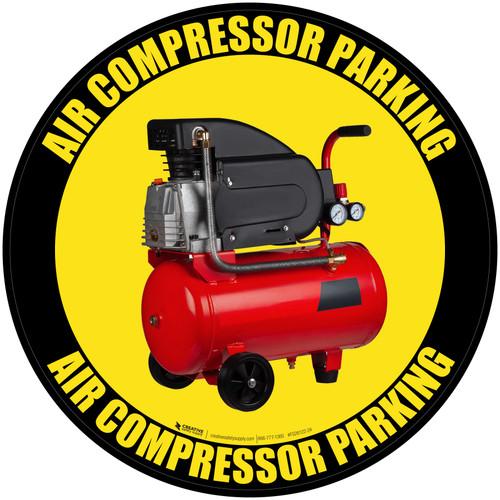 Air Compressor Parking - Floor Sign