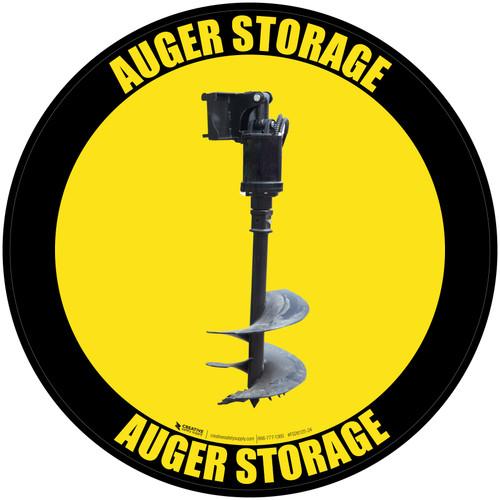 Auger Storage - Floor Sign
