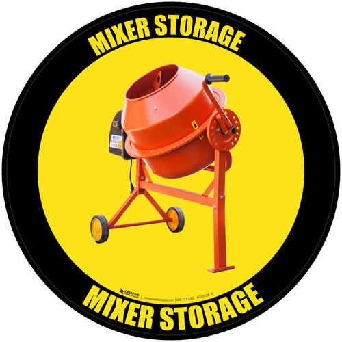 Mixer Storage - Floor Sign
