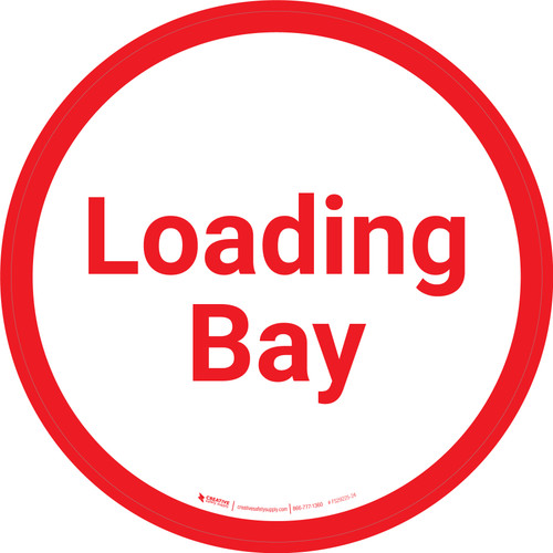 Loading Bay - White/Red Circle - Floor sign
