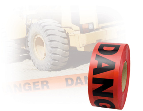 Danger Red Barricade Tape