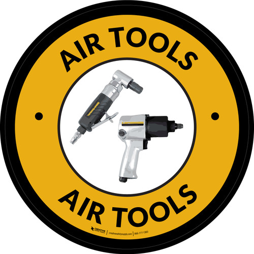 Air Tools Yellow Circular - Floor Sign