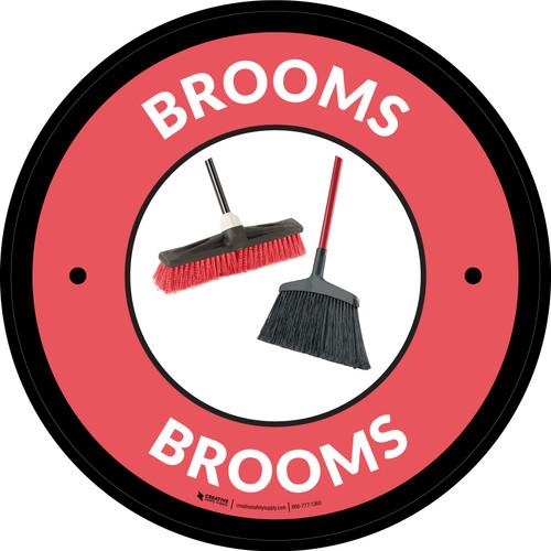 Brooms Red Circular - Floor Sign
