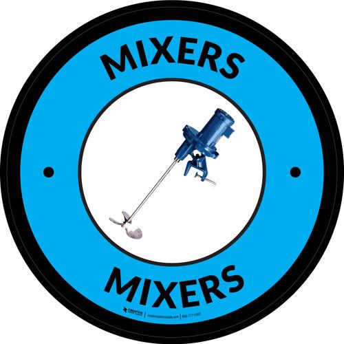 Mixers Blue Circular - Floor Sign