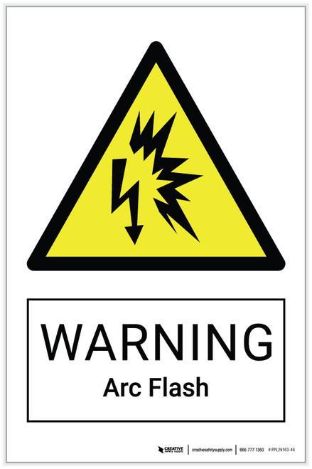 Warning: Arc Flash Hazard - Label