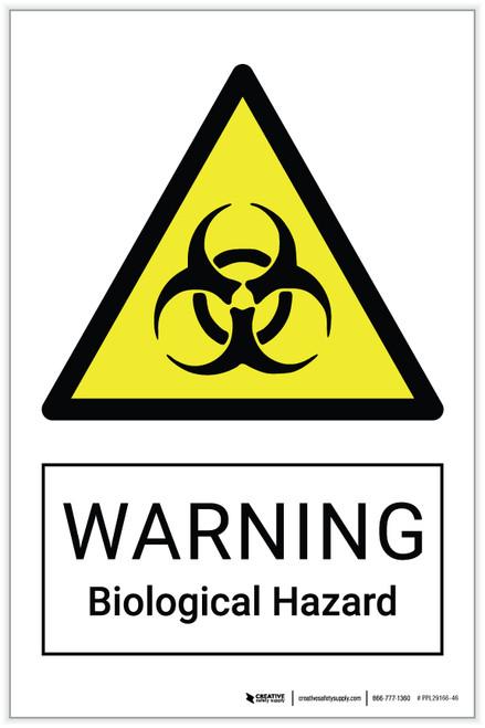 Warning: Biological Hazard - Label