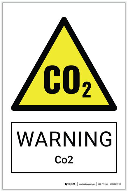 Warning: Co2 Hazard - Label