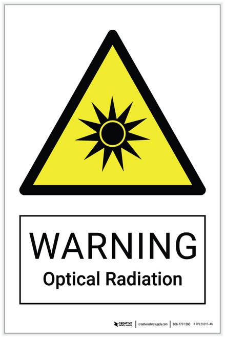 Warning: Optical Radiation Hazard - Label