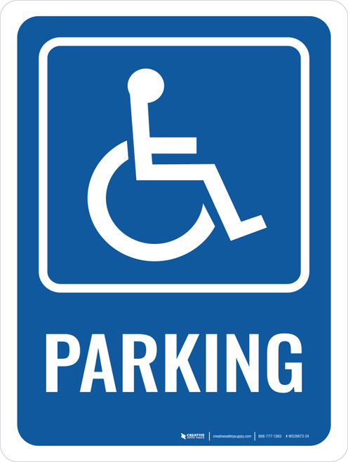 Accessible Parking Sign with Icon Portrait - Wall Sign