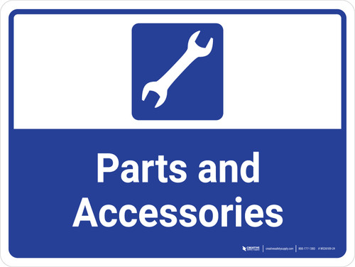 Parts and Accessories Landscape - Wall Sign