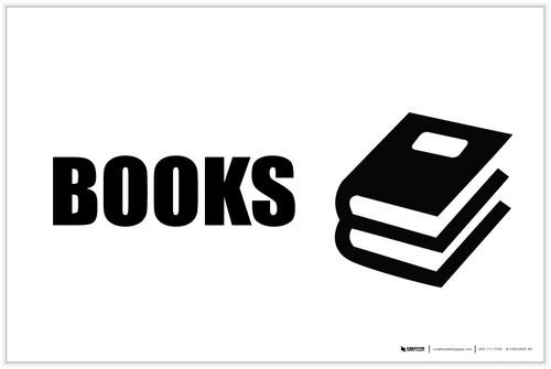 Books with Icon Landscape - Label
