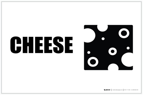 Cheese with Icon Landscape - Label
