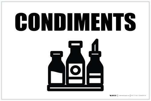 Condiments with Icon Landscape - Label