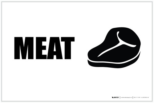 Meat with Icon Landscape - Label