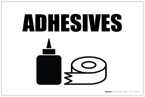Adhesives with Icon Landscape - Label
