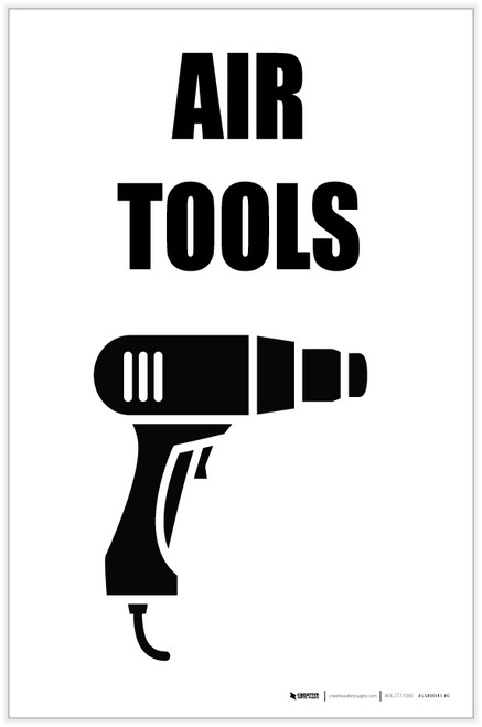 Air Tools with Icon Portrait - Label