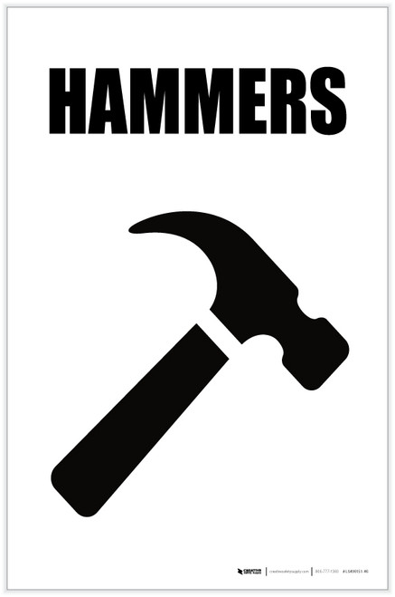 Hammers with Icon Portrait - Label