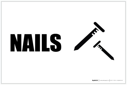 Nails with Icon Landscape - Label