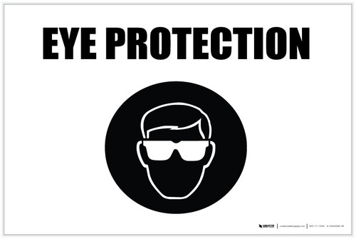 Eye Protection with Icon Landscape - Label
