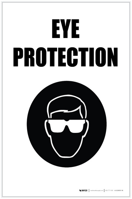 Eye Protection with Icon Portrait - Label