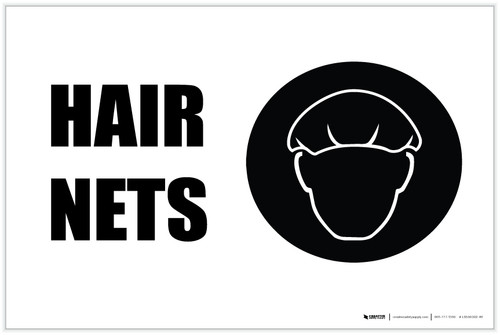 Hair Nets with Icon Landscape - Label