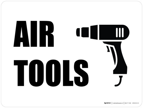 Air Tools with Icon Landscape - Wall Sign