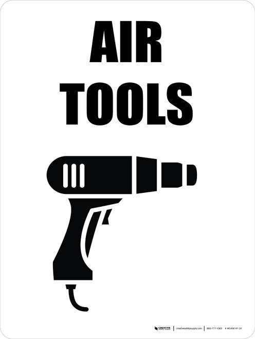 Air Tools with Icon Portrait - Wall Sign