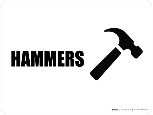 Hammers with Icon Landscape - Wall Sign