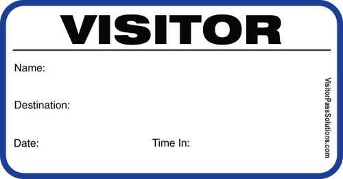 Visitor Badges with Visitor Pass Registry Book